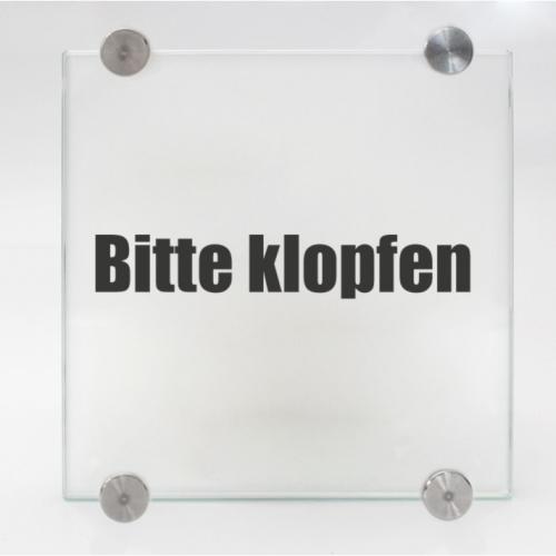 Türschild aus Glas fürs Büro