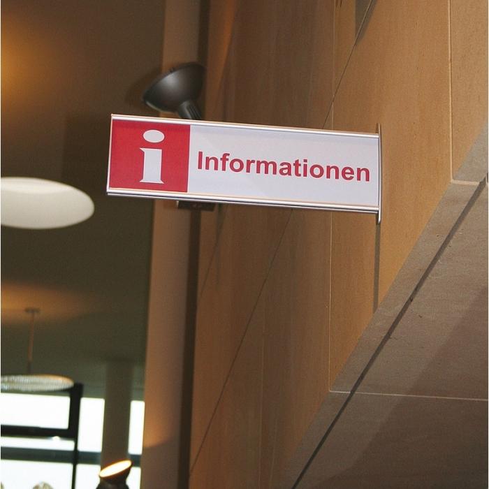 Fahnenschild mit Beschriftung Information