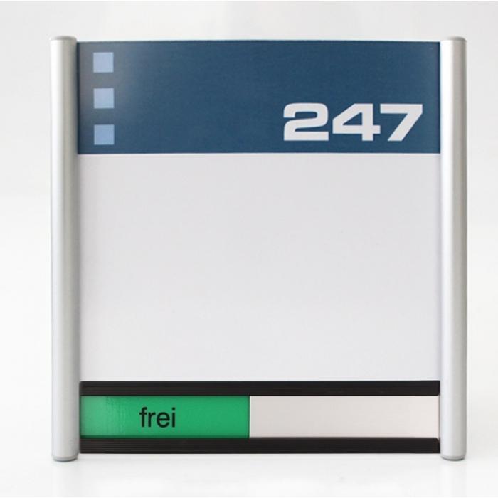 Türschild Büro mit frei/besetzt Anzeige
