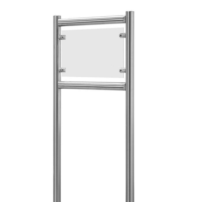 Firmenschild Edelstahl mit blanko Schild